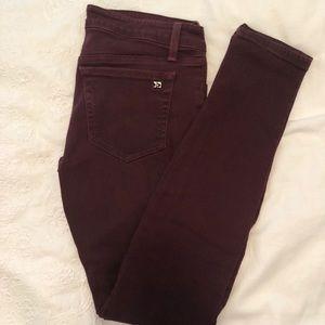 Joe's Jeans Maroon Denim Skinny Jeans